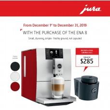 Jura Ena 8 Sunset Red + Jura Cool Control 0.6 L