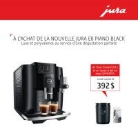 Jura E8 Piano Black + FREE Jura Cool Control 0.6L & Milk Pipe