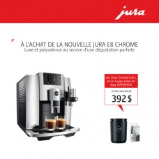 Jura E8 Chrome + FREE Jura Cool Control 0.6L & Milk Pipe
